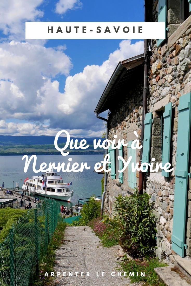 nernier yvoire que voir haute-savoie lac leman suisse france voyage blog solo au feminin arpenter le chemin