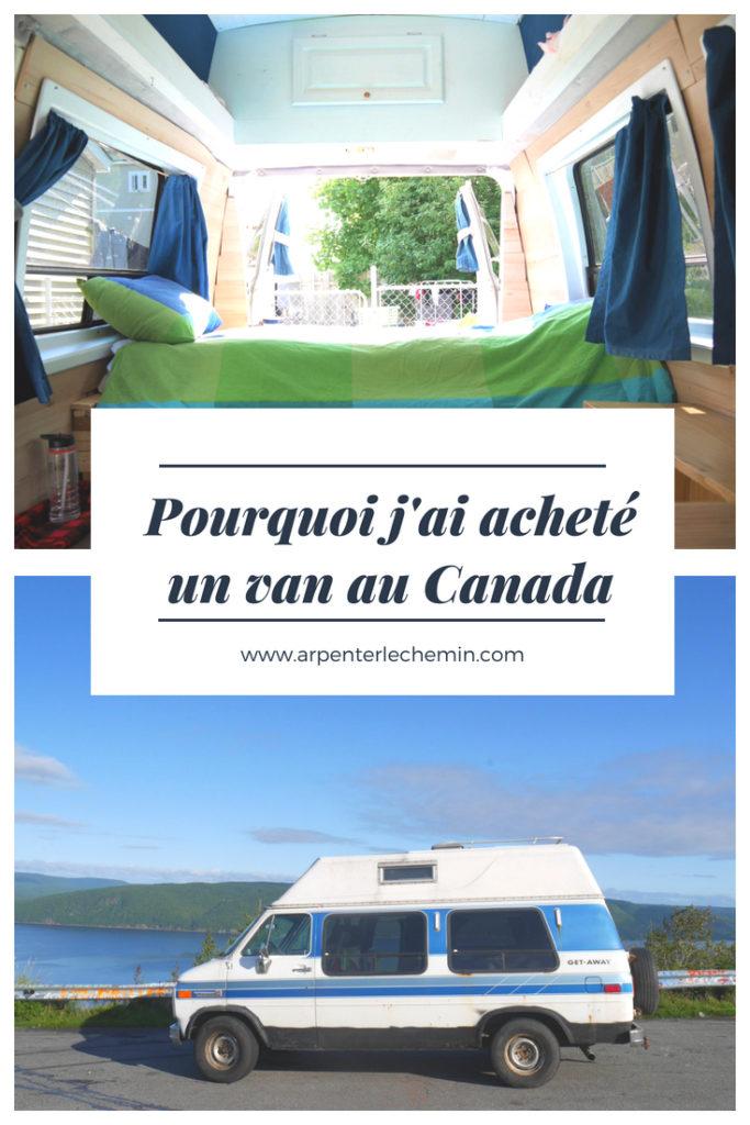 blog voyage van canada arpenter le chemin