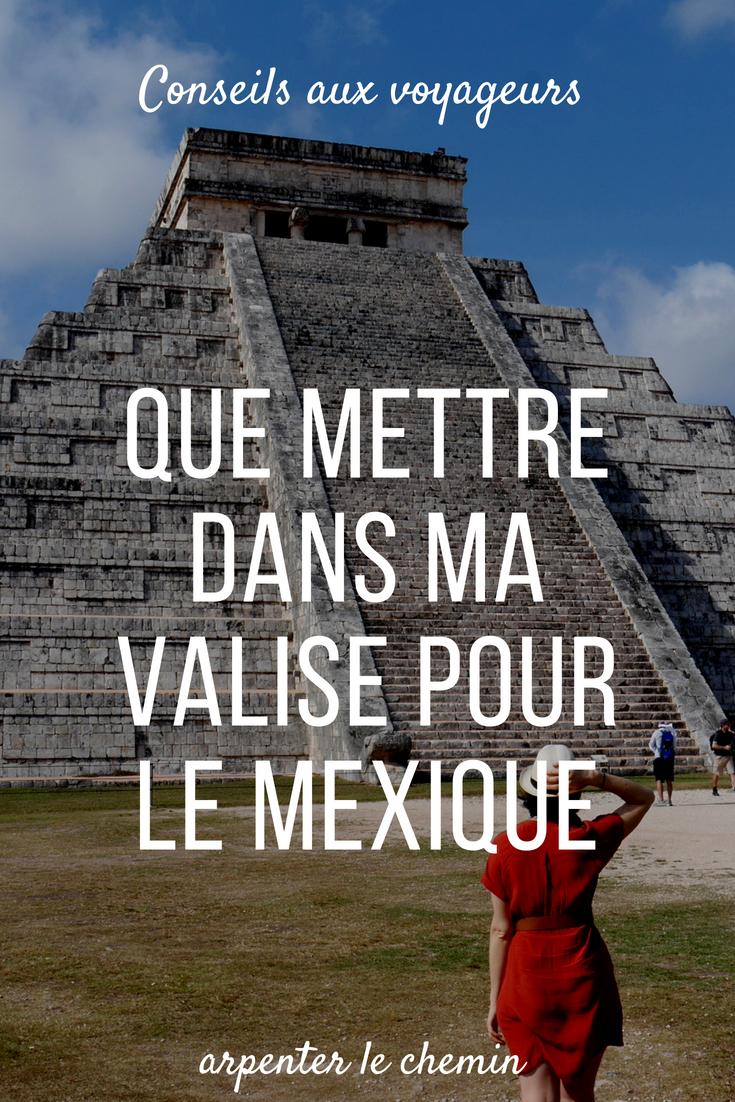que mettre valise tenue mexique blog voyage arpenter le chemin
