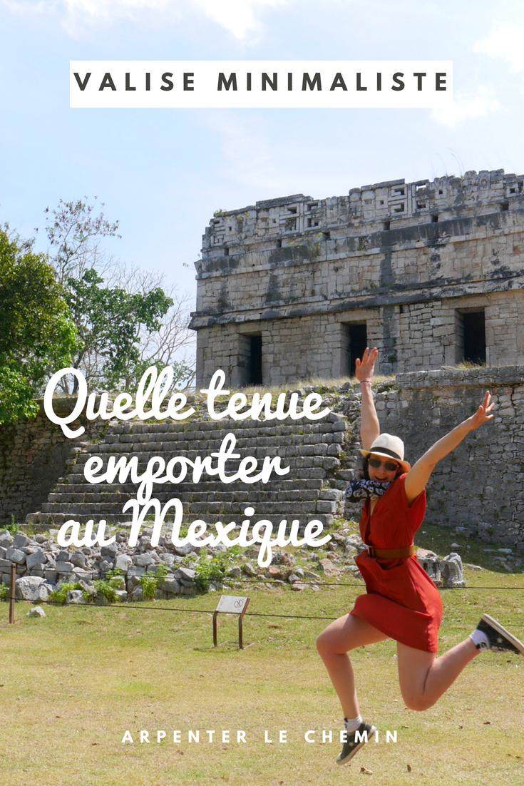 tenue valise mexique voyage blog arpenter le chemin