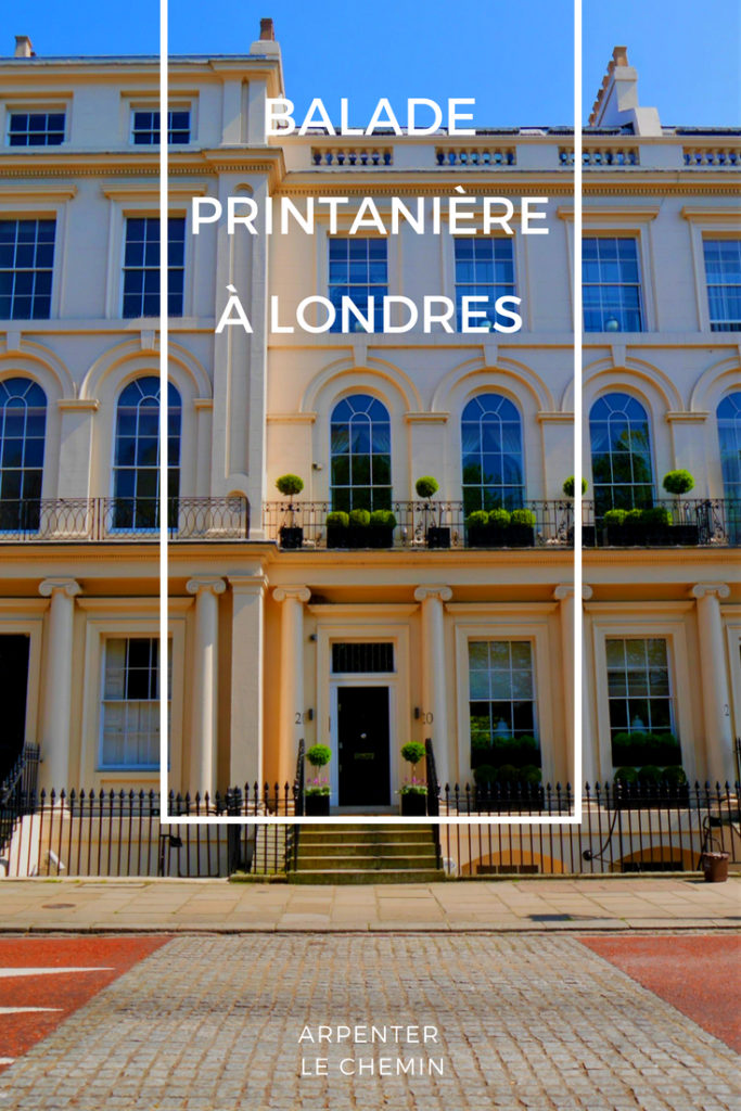 Promenade printemps Londres blog voyage Arpenter le chemin