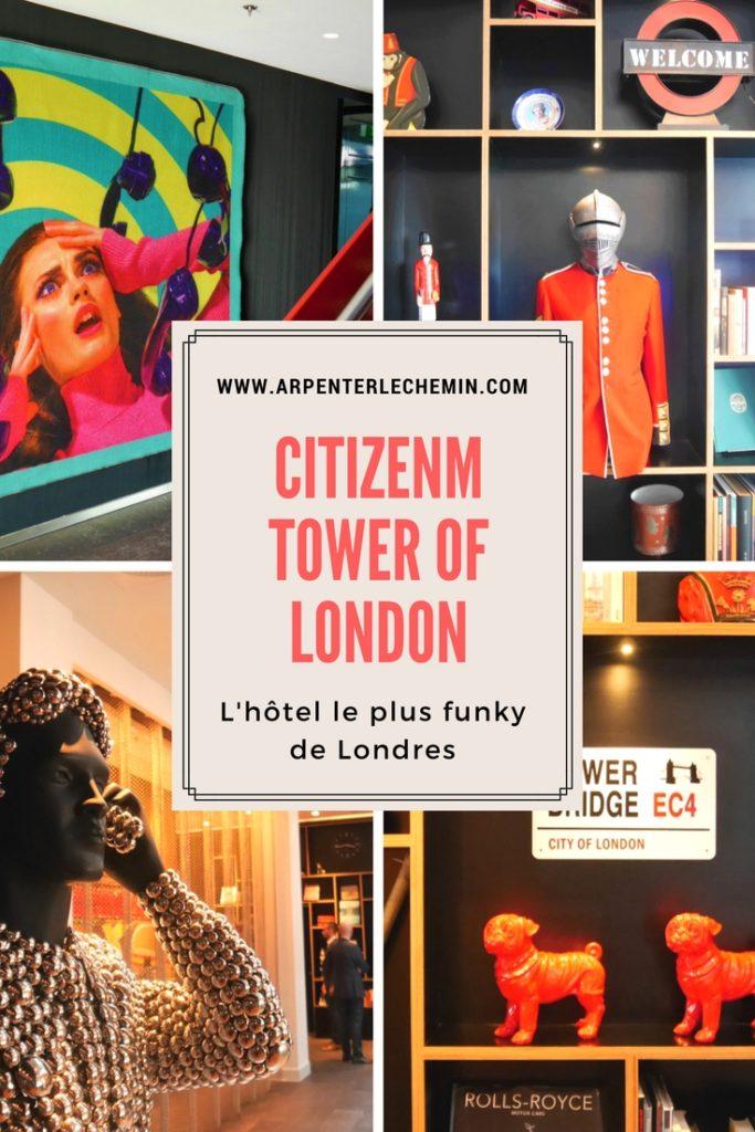 citizenM Tower of London Arpenter le chemin Pinterest v2