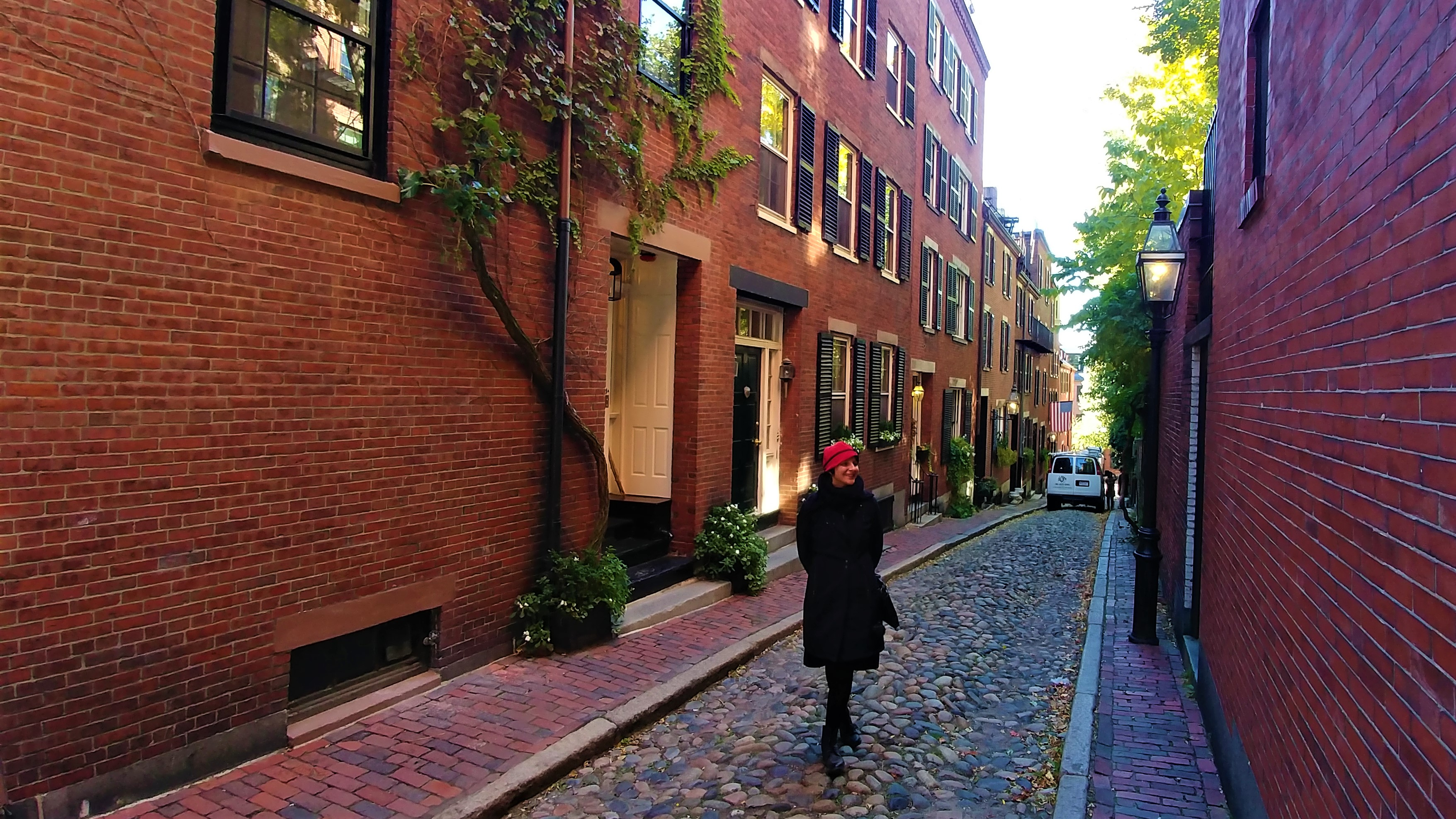 Acorn Street Beacon Hill Boston Usa Voyage Road Trip Blog Arpenter Le Chemin