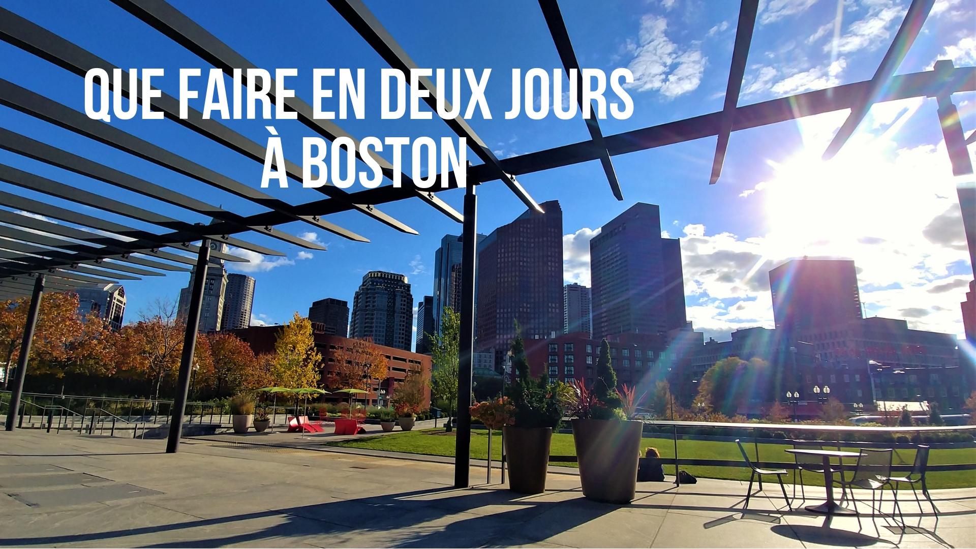 Itineraire Boston Que Voir Visite Blog Voyage Arpenter Le Chemin