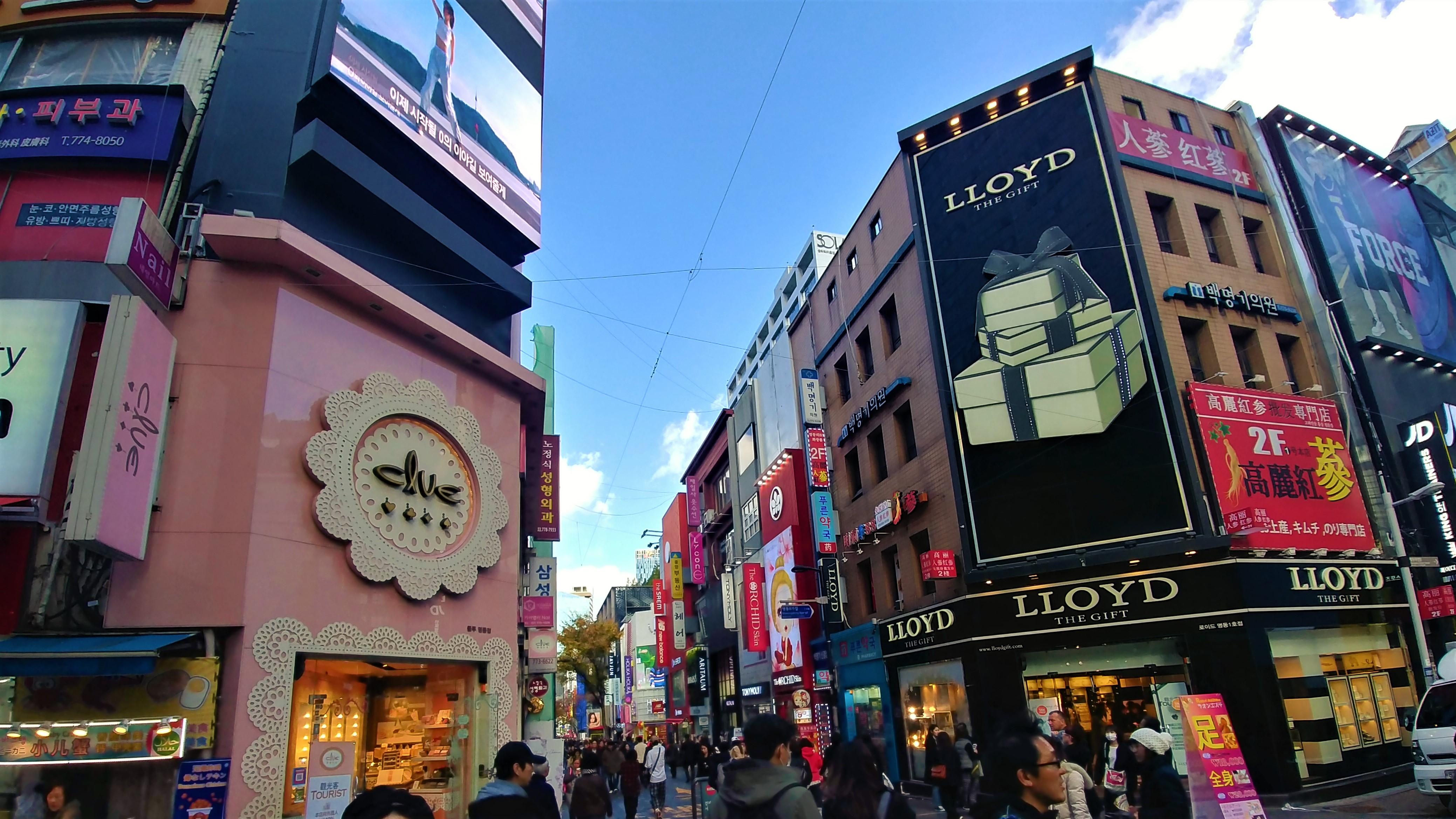seoul myeongdong shopping coree que faire blog voyage arpenter le chemin