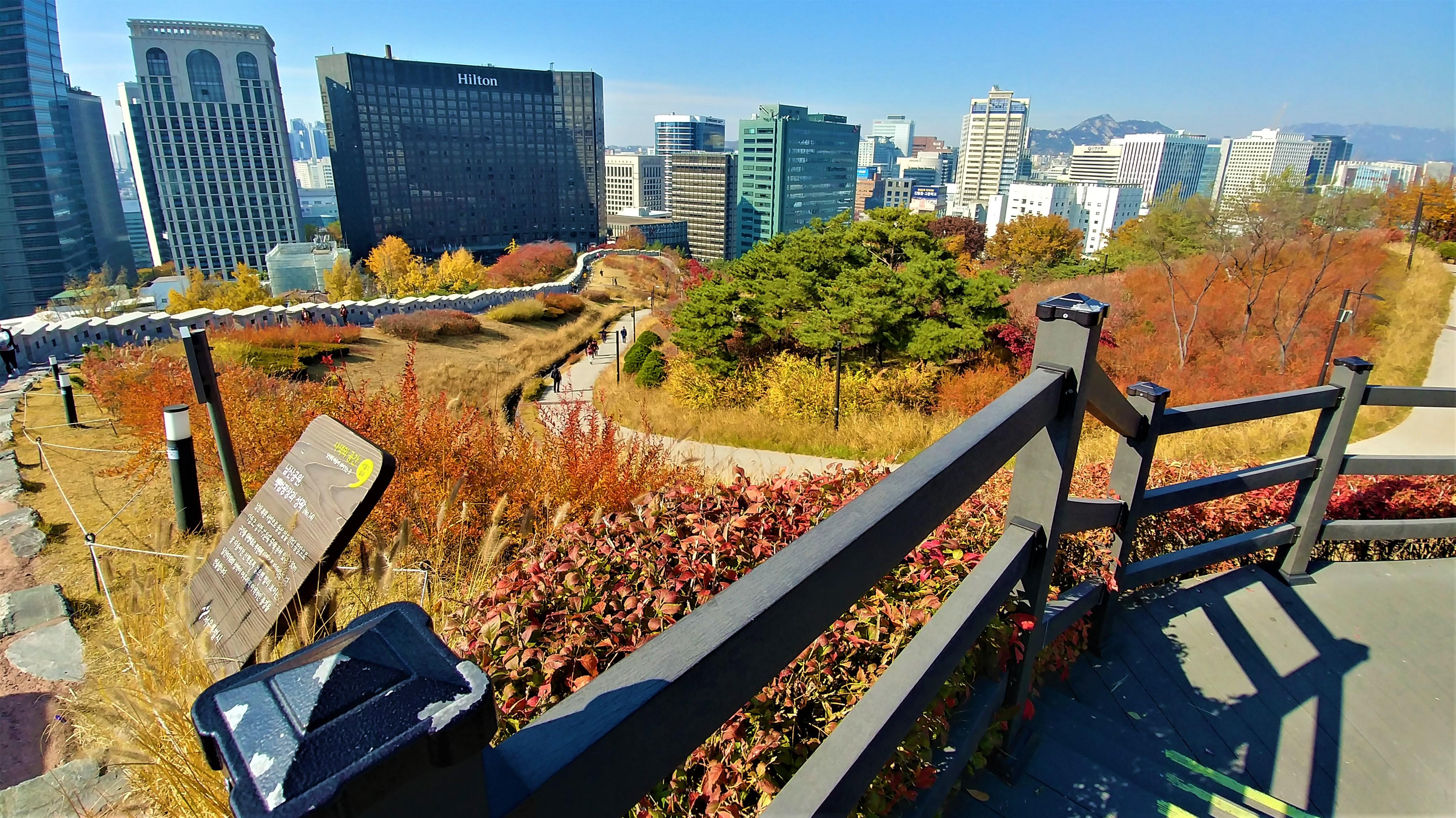 seoul remparts seoul tower automne coree que voir blog voyage arpenter le chemin