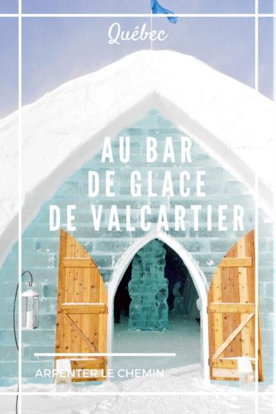 bar hotel glace valcartier quebec blog voyage canada rod-trip hiver arpenter le chemin