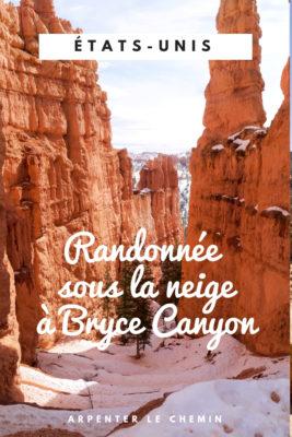 que faire bryce canyon randonnee etats-unis usa blog voyage utah arpenter le chemin