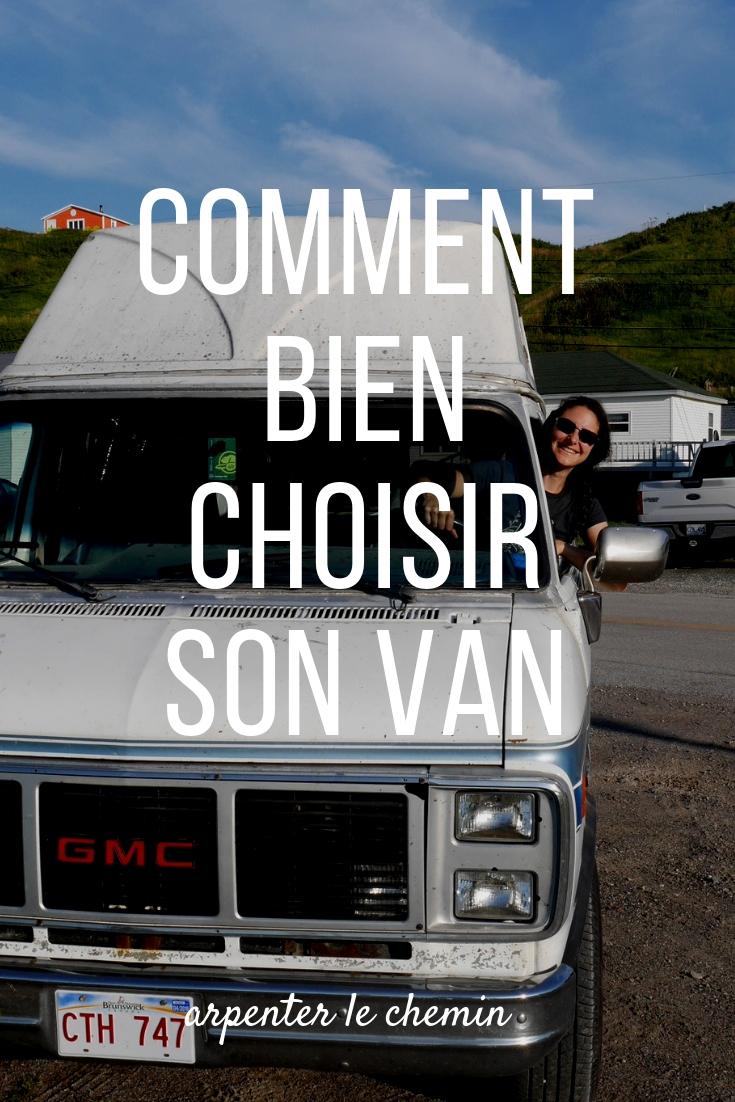 choisir van voyage road-trip blog arpenter le chemin canada