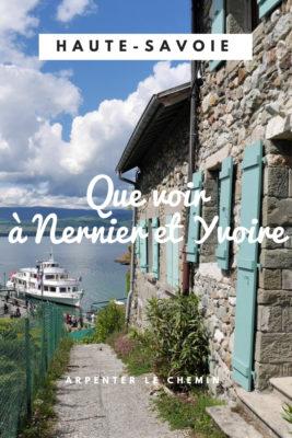 yvoire nernier voyage que faire que voir haute-savoie blog voyage france arpenter le chemin