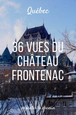 chateau frontenac vieux quebec canada voyage blog road-trip hiver arpenter le chemin