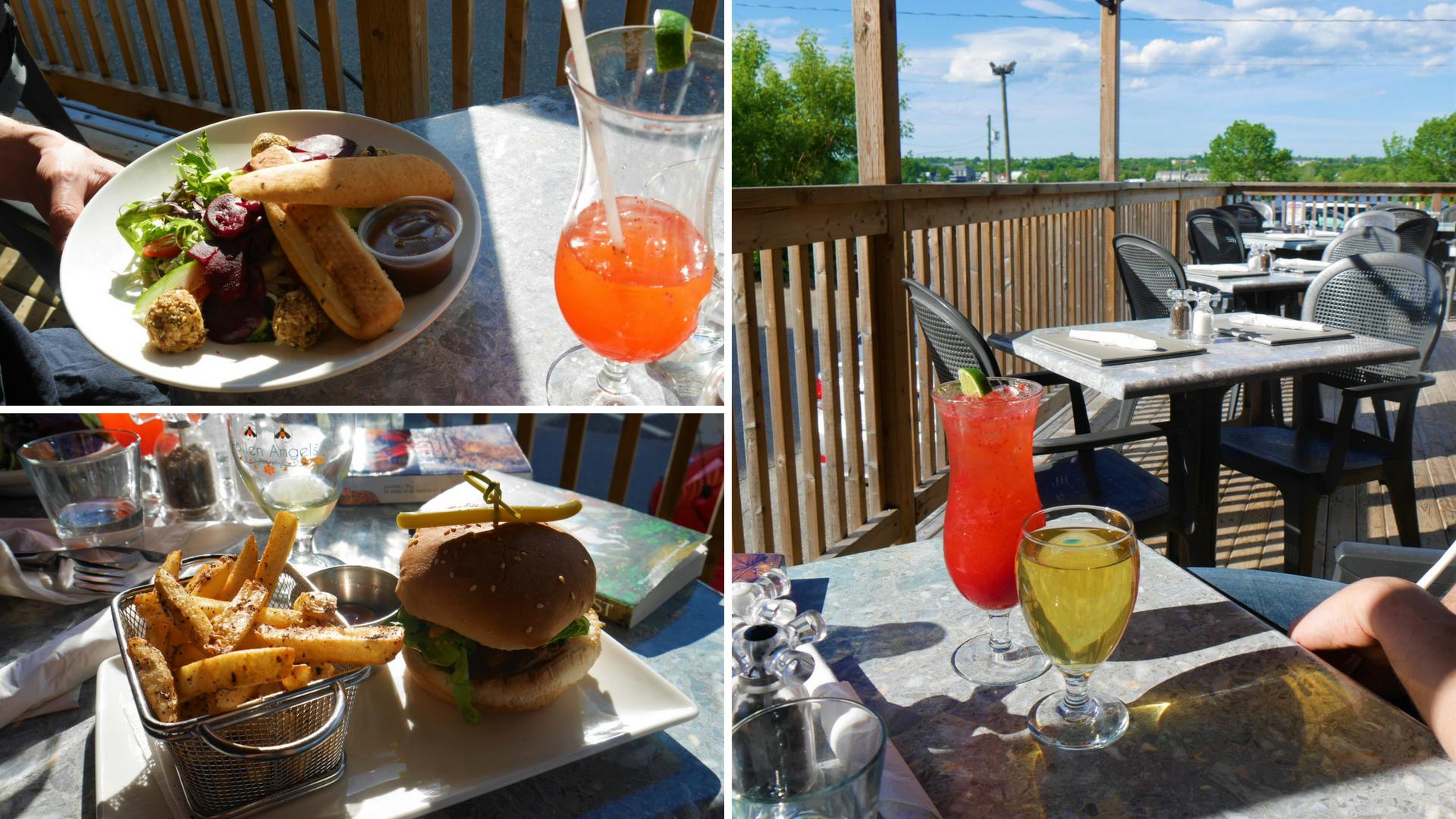 Fredericton diner souper isaac's way restaurant terrasse patio centre-ville