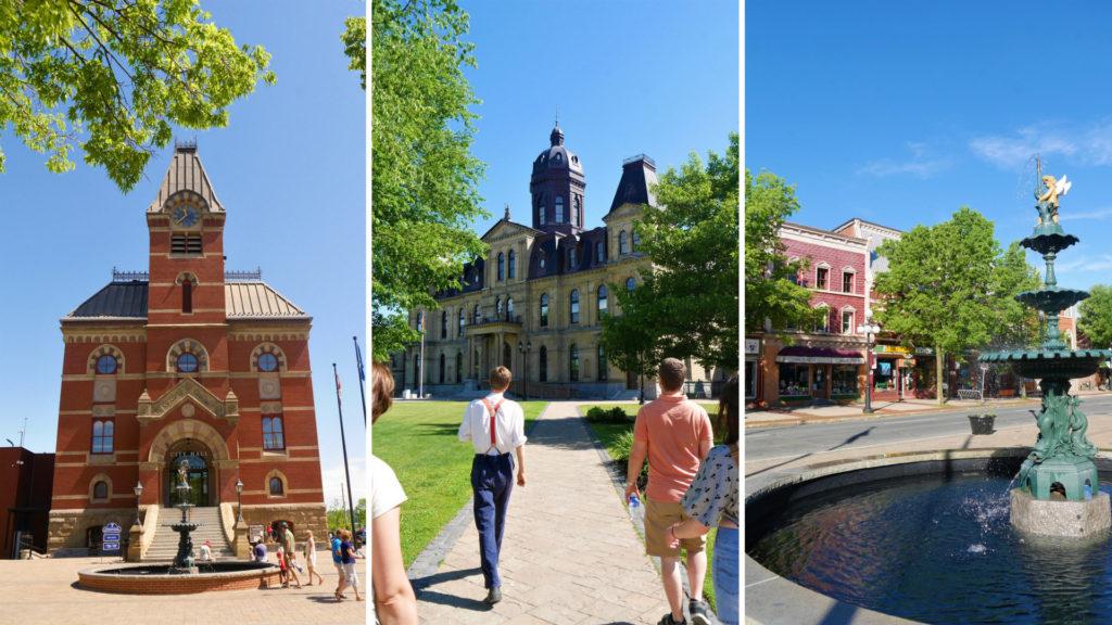 Fredericton downtown nouveau-brunswick canada voyage