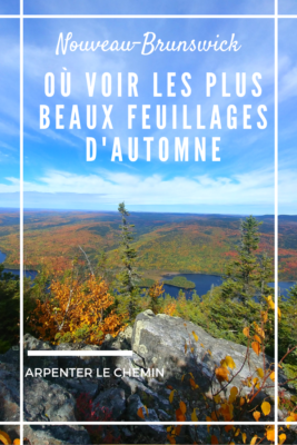 automne nouveau-brunswick mont carleton canada road-trip blog voyage arpenter le chemin