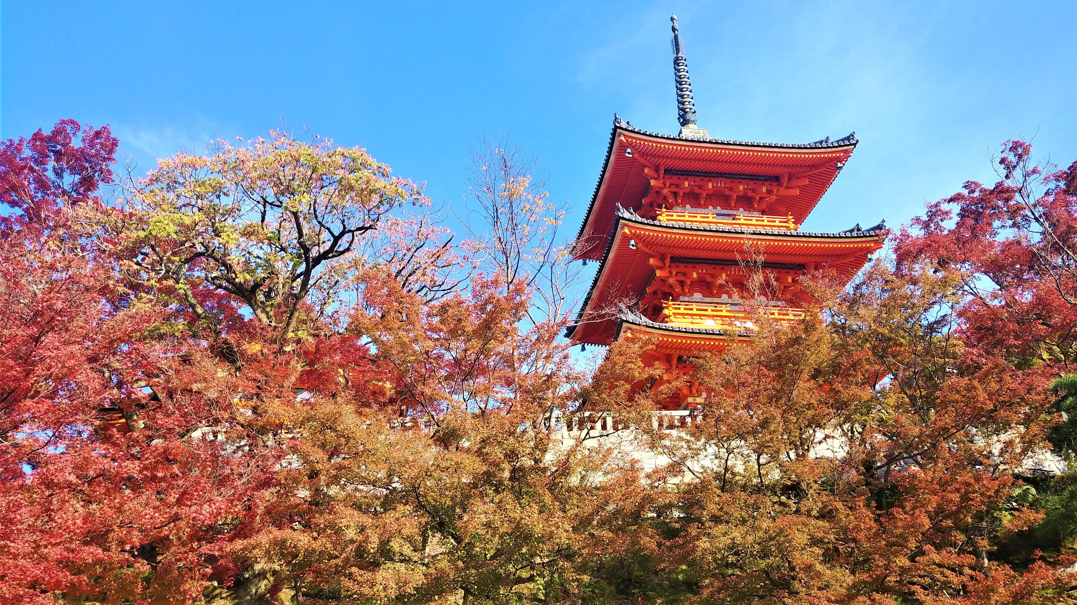 Kyoto automne kiyomizudera japon voyage asie blog arpenter le chemin