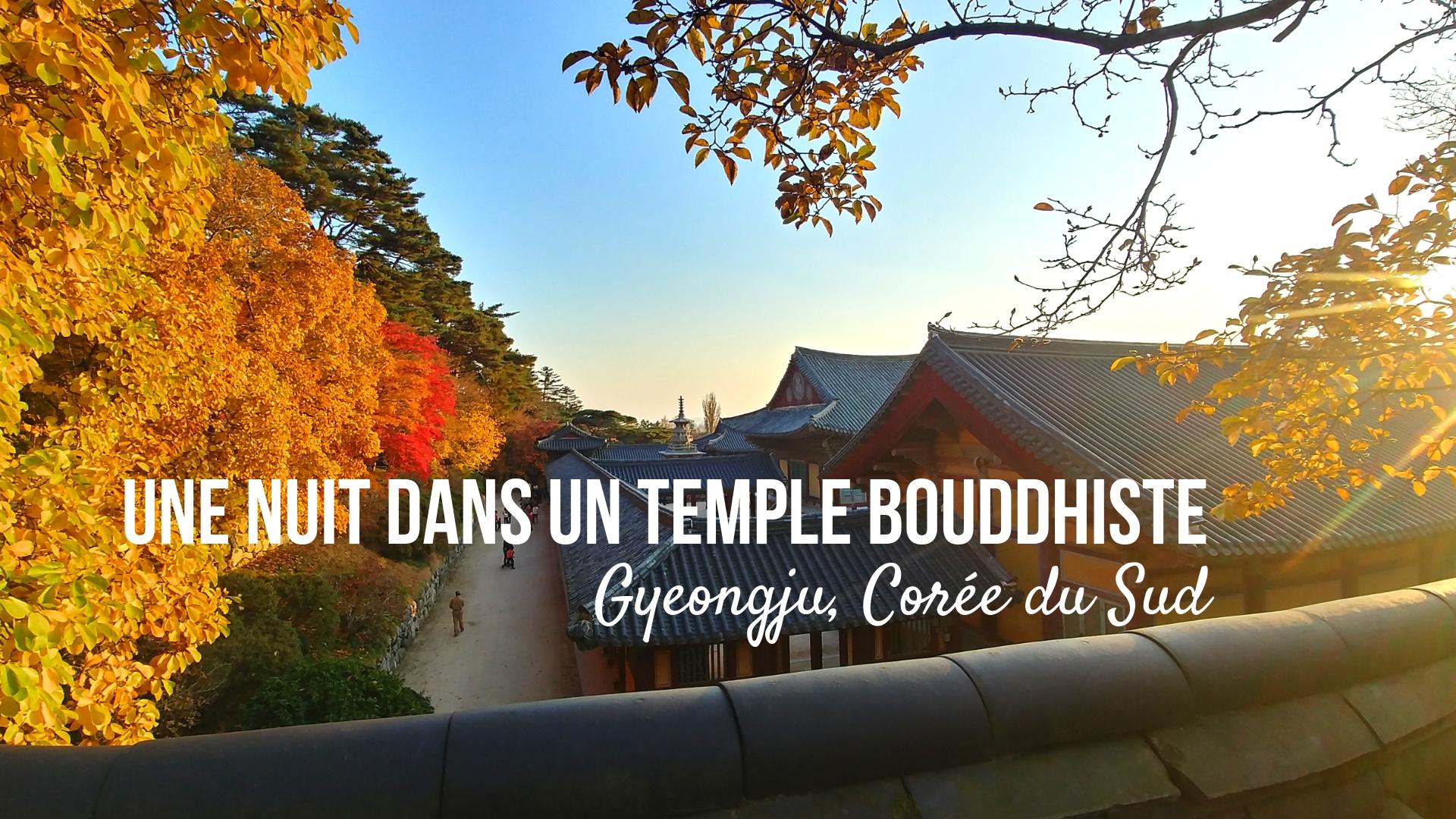 templestay gyeongju coree du sud voyage asie blog arpenter le chemin