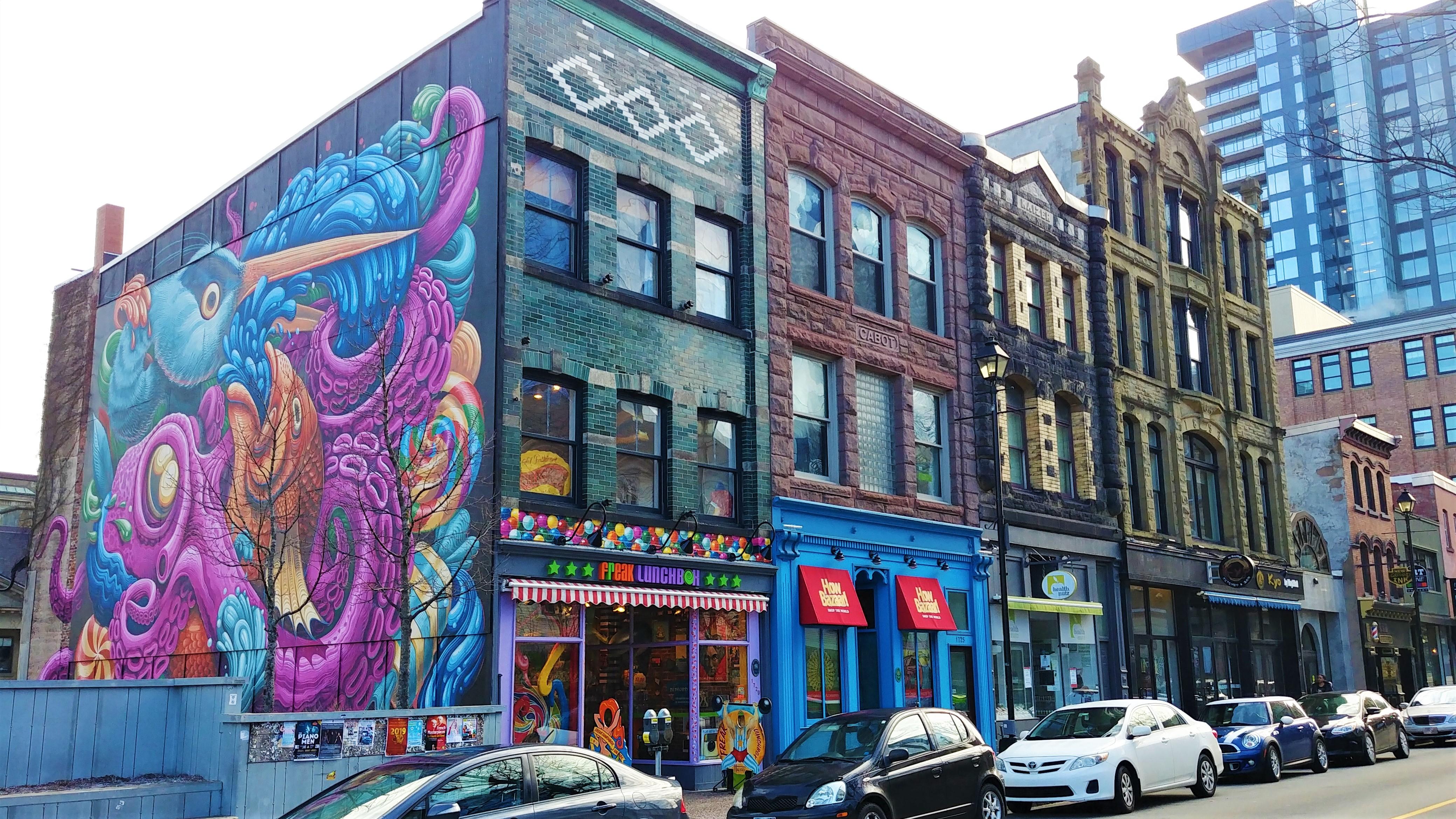 Halifax street art centre-ville que voir escapade voyage nouvelle-ecosse canada
