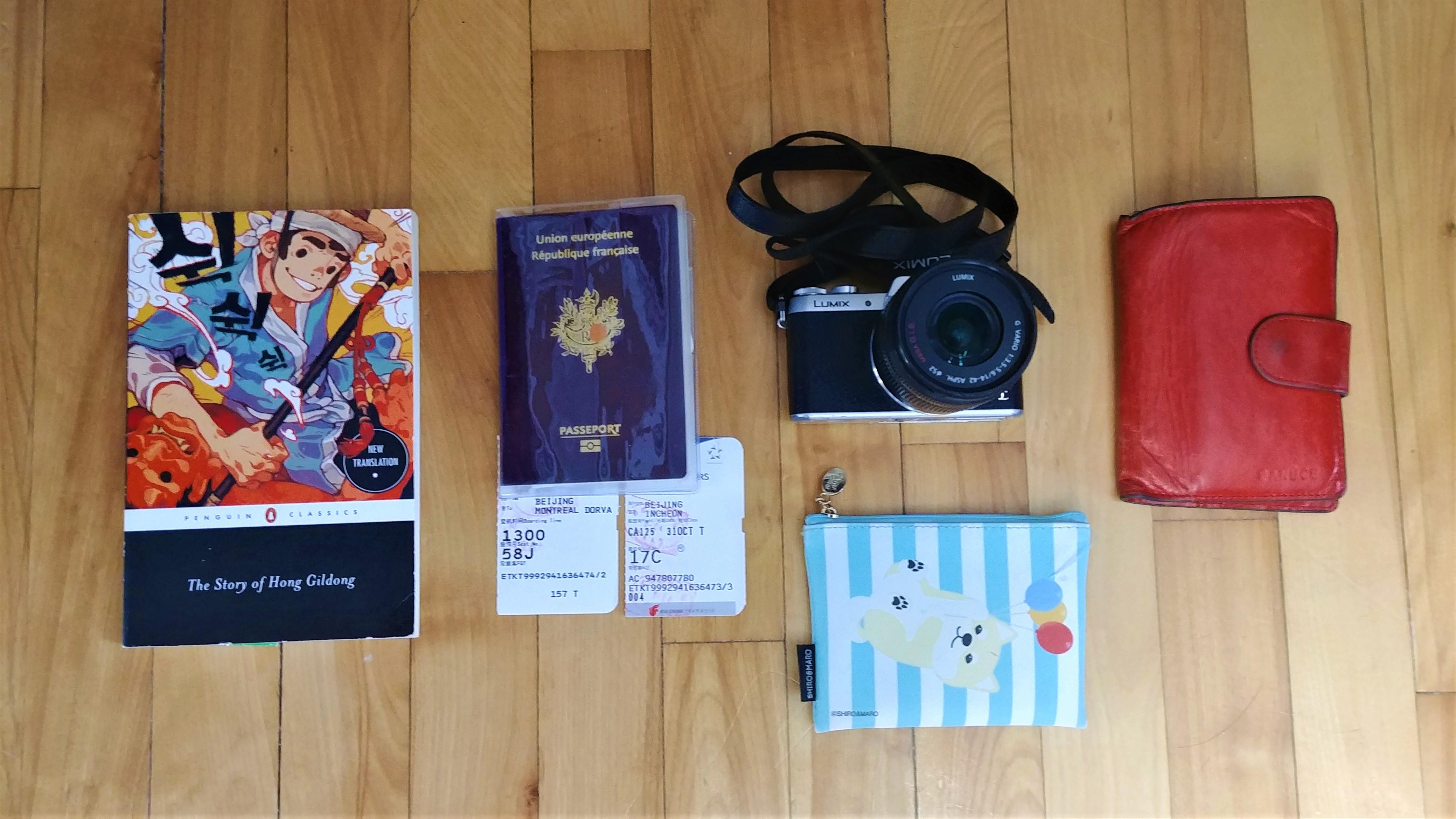 essentiels valise coree du sud japon blog voyage arpenter le chemin
