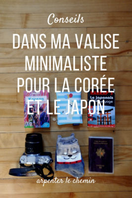 valise minimaliste corée japon bagages tenues blog voyage asie arpenter le chemin