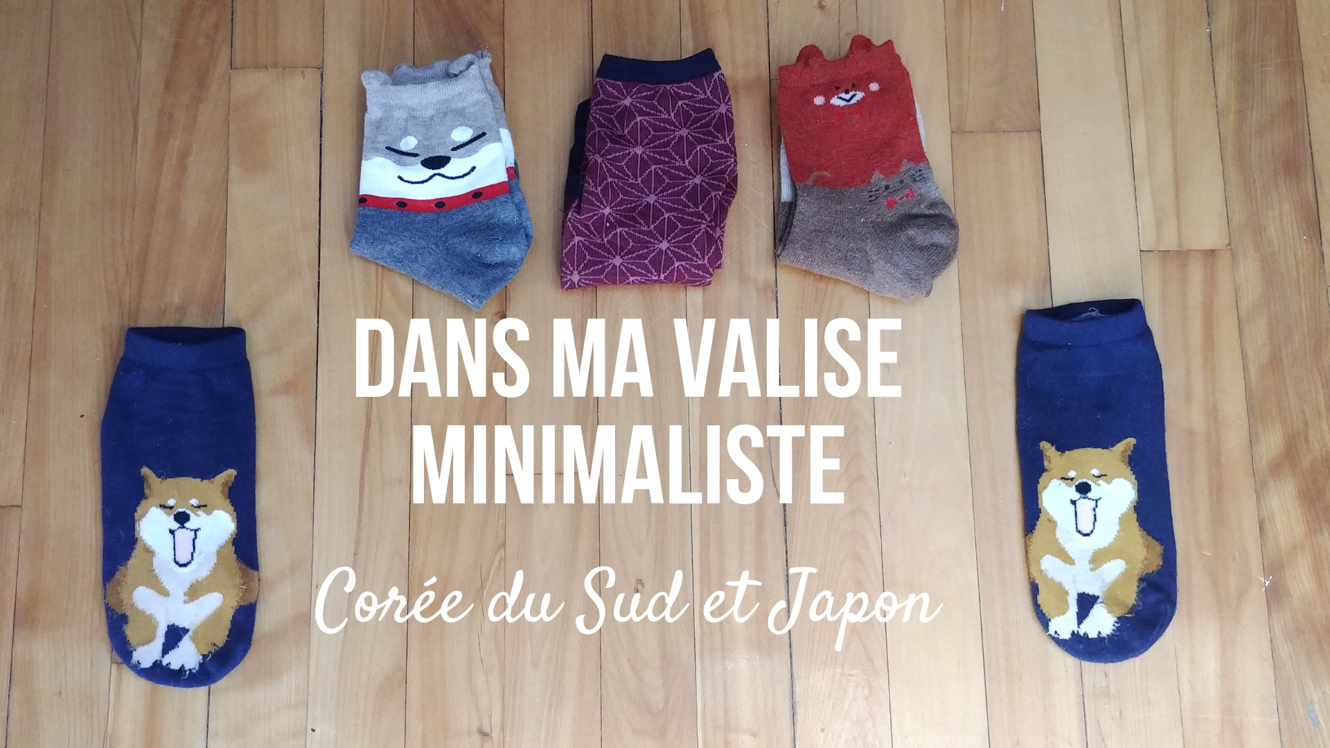 valise minimaliste coree japon asie voyager leger blog voyage arpenter le chemin