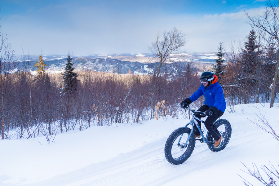 Acadie hiver edmunston fatbike velo appalaches a for adventure blog voyage road-trip canada arpenter le chemin