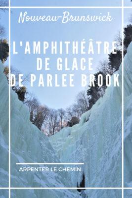 parlee brook amphitheatre sussex nouveau-brunswick aventure hivernale blog voyage canada road-trip arpenter le chemin