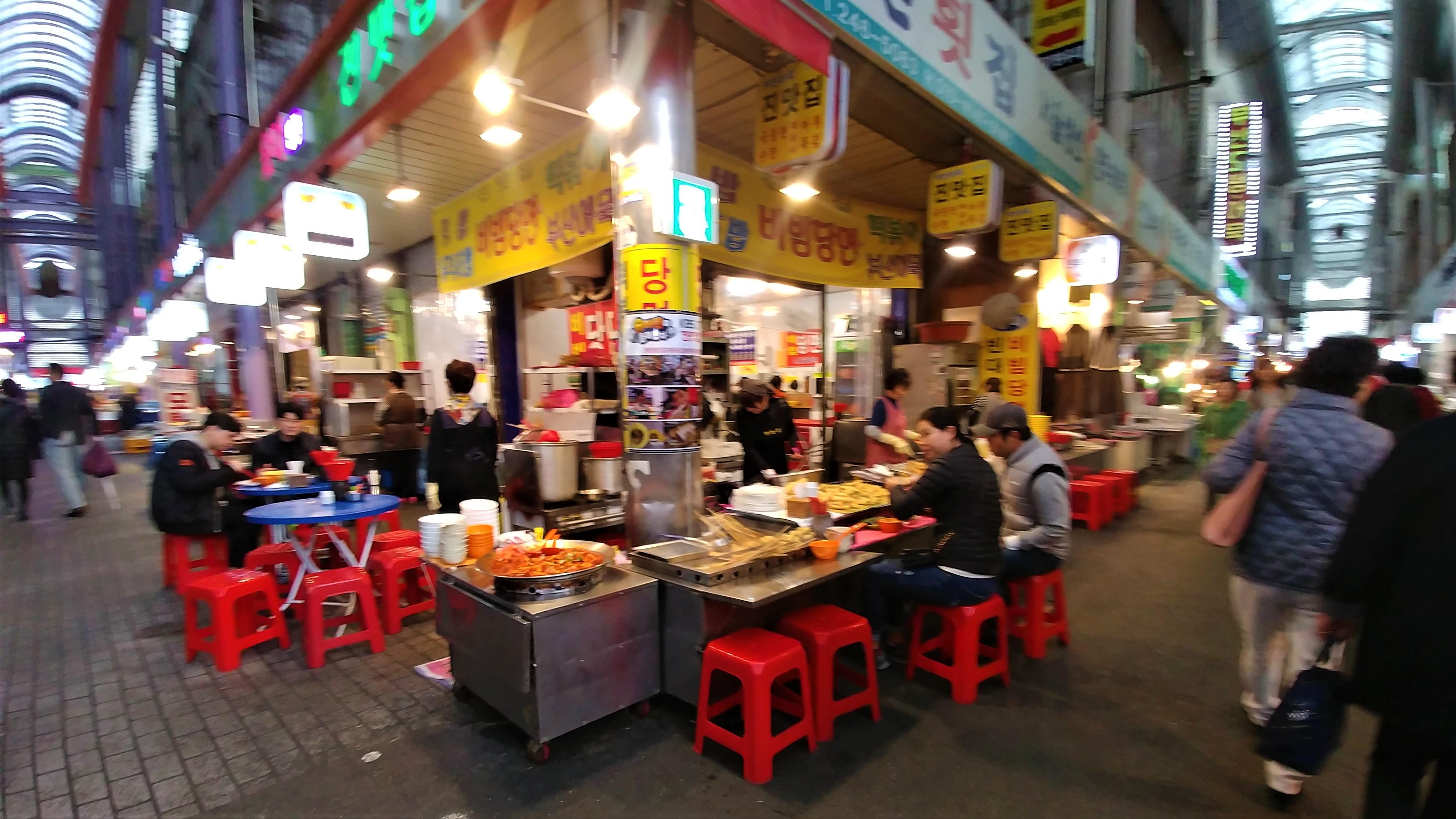 Busan marche gukje ou manger cuisine de rue blog voyage coree du sud arpenter le chemin
