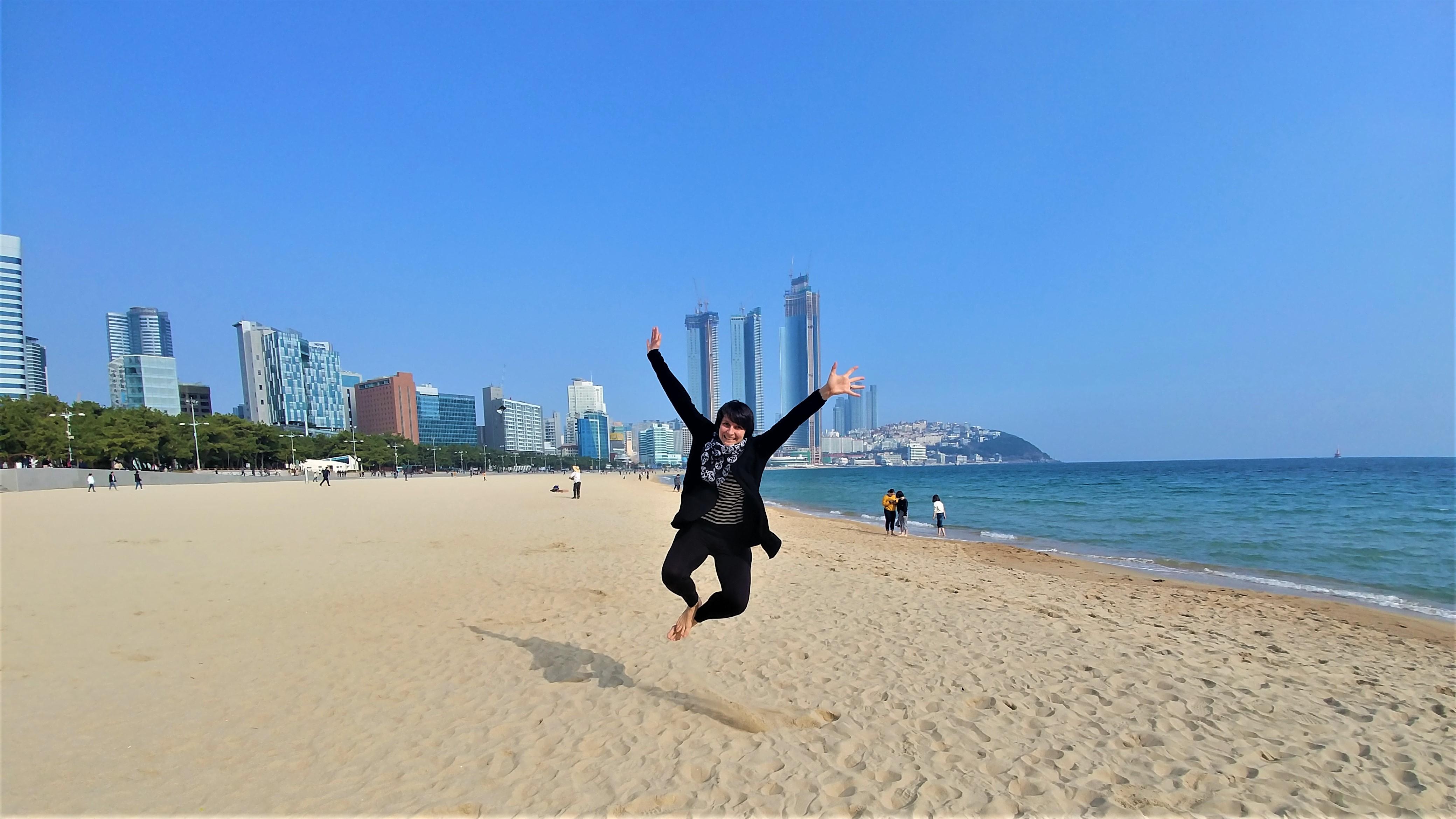 Busan plage Haeundae que voir coree du sud itineraire blog voyage arpenter le chemin