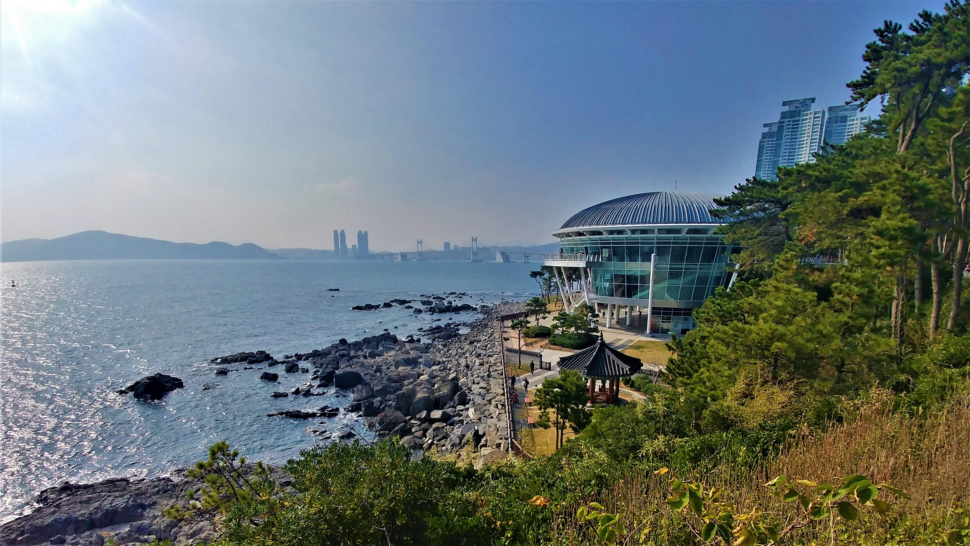 Busan plage haeundae Dongbaek parc que faire coree du sud blog voyage asie arpenter le chemin