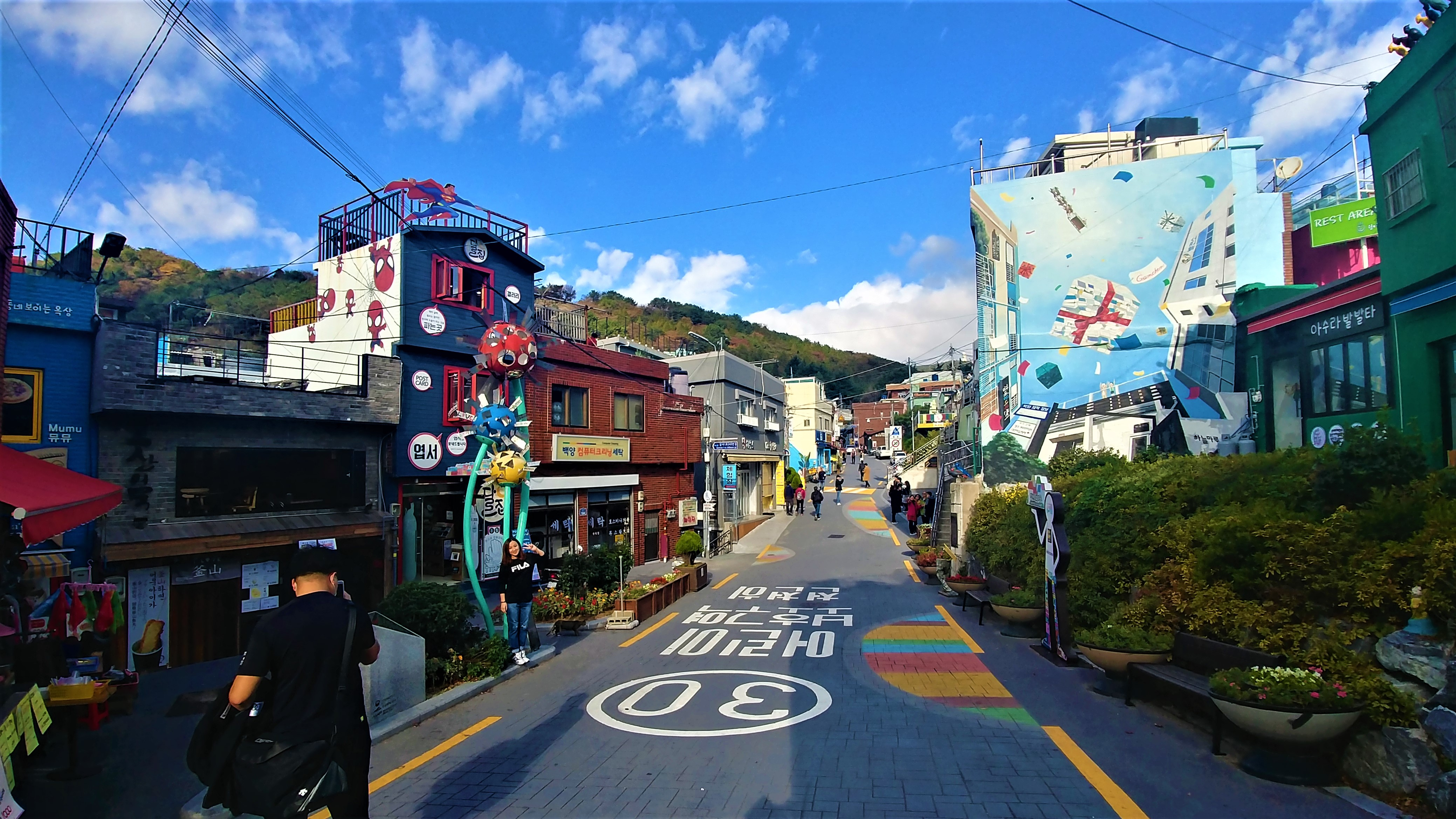 Busan street art gamcheon village que voir petit prince blog voyage asie arpenter le chemin