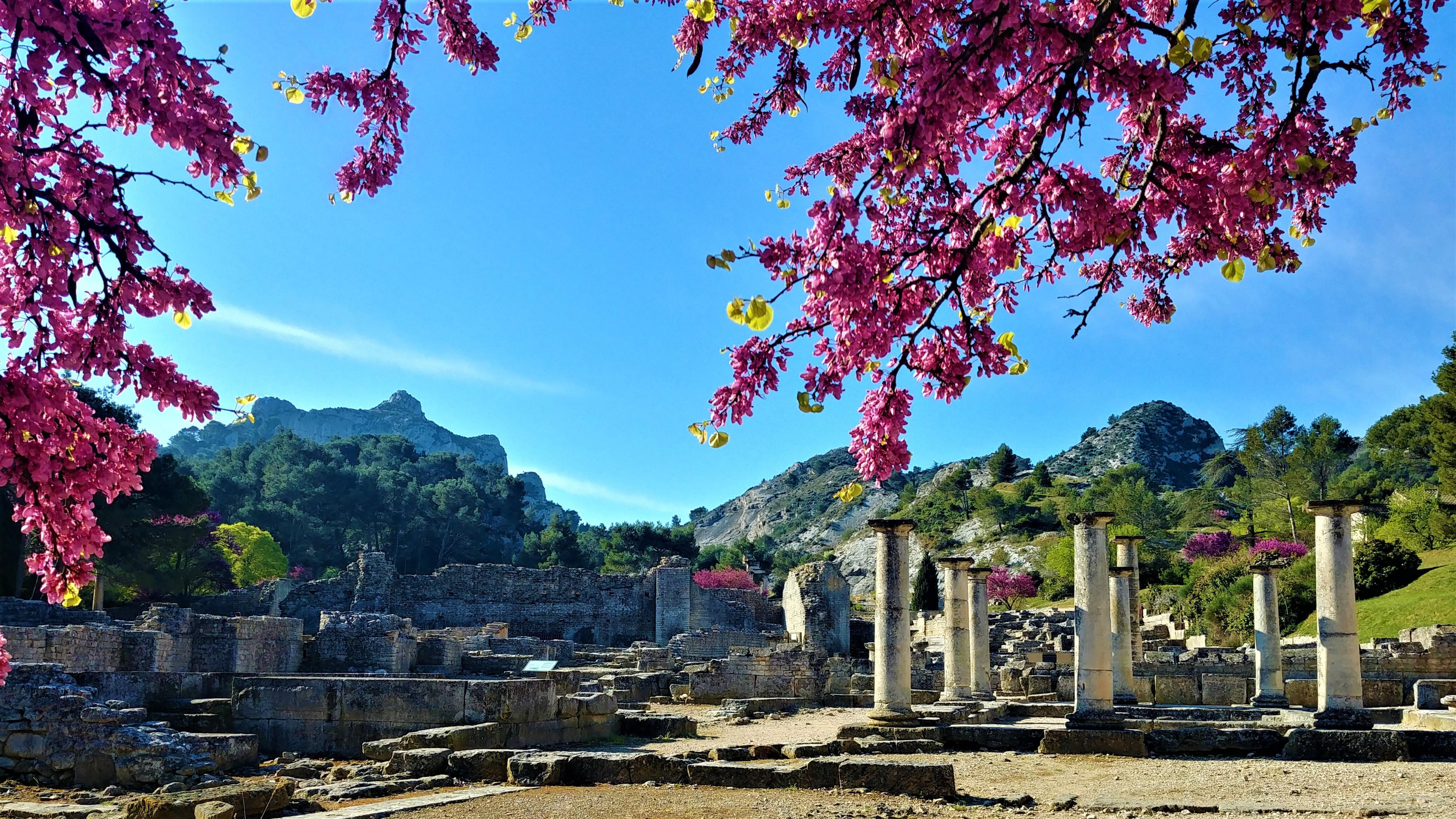 Glanum Saint Remy de provence que voir que faire printemps escapade blog voyage provence arpenter le chemin