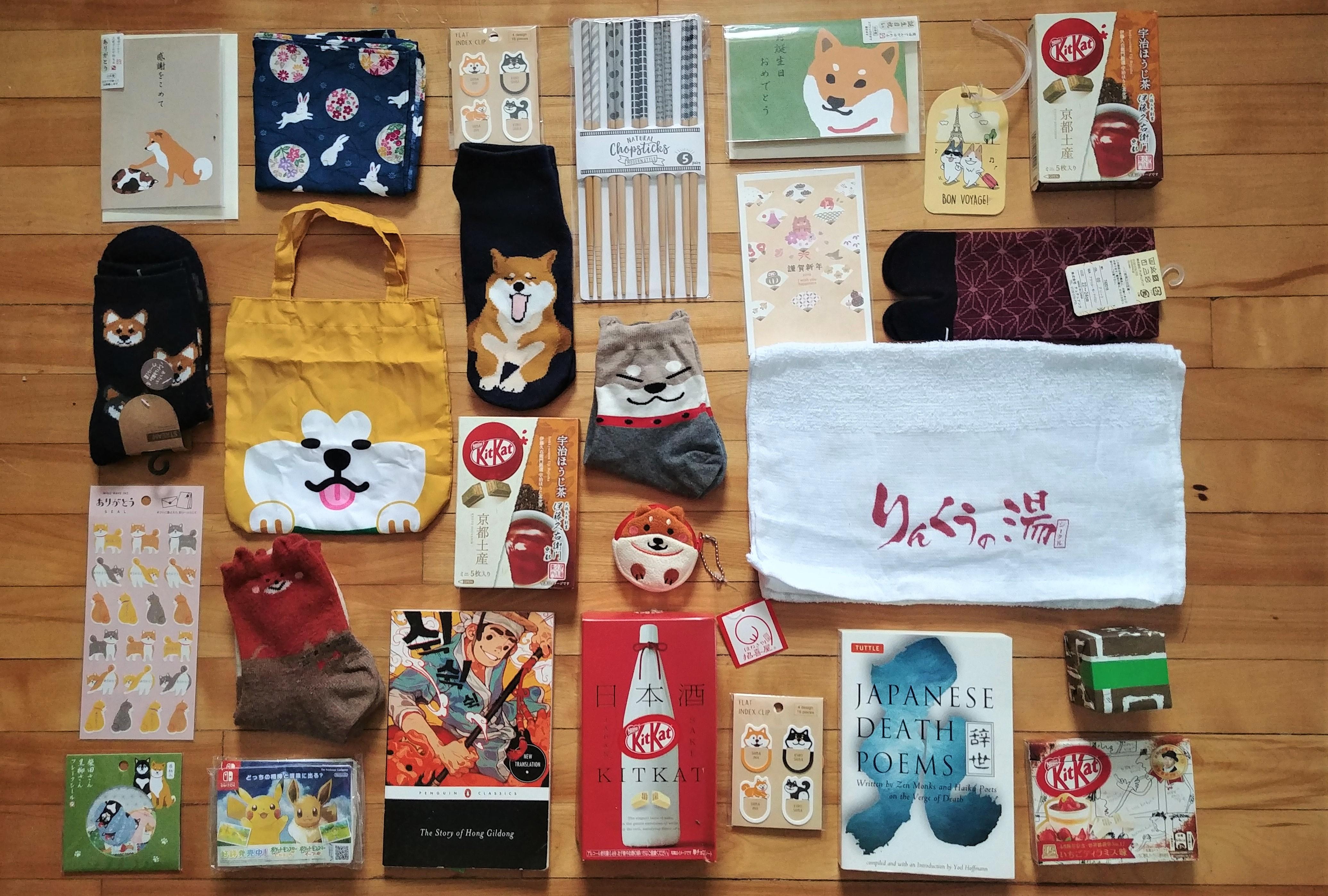 Souvenirs Japon Coree Chine que ramener blog voyage asie arpenter le chemin