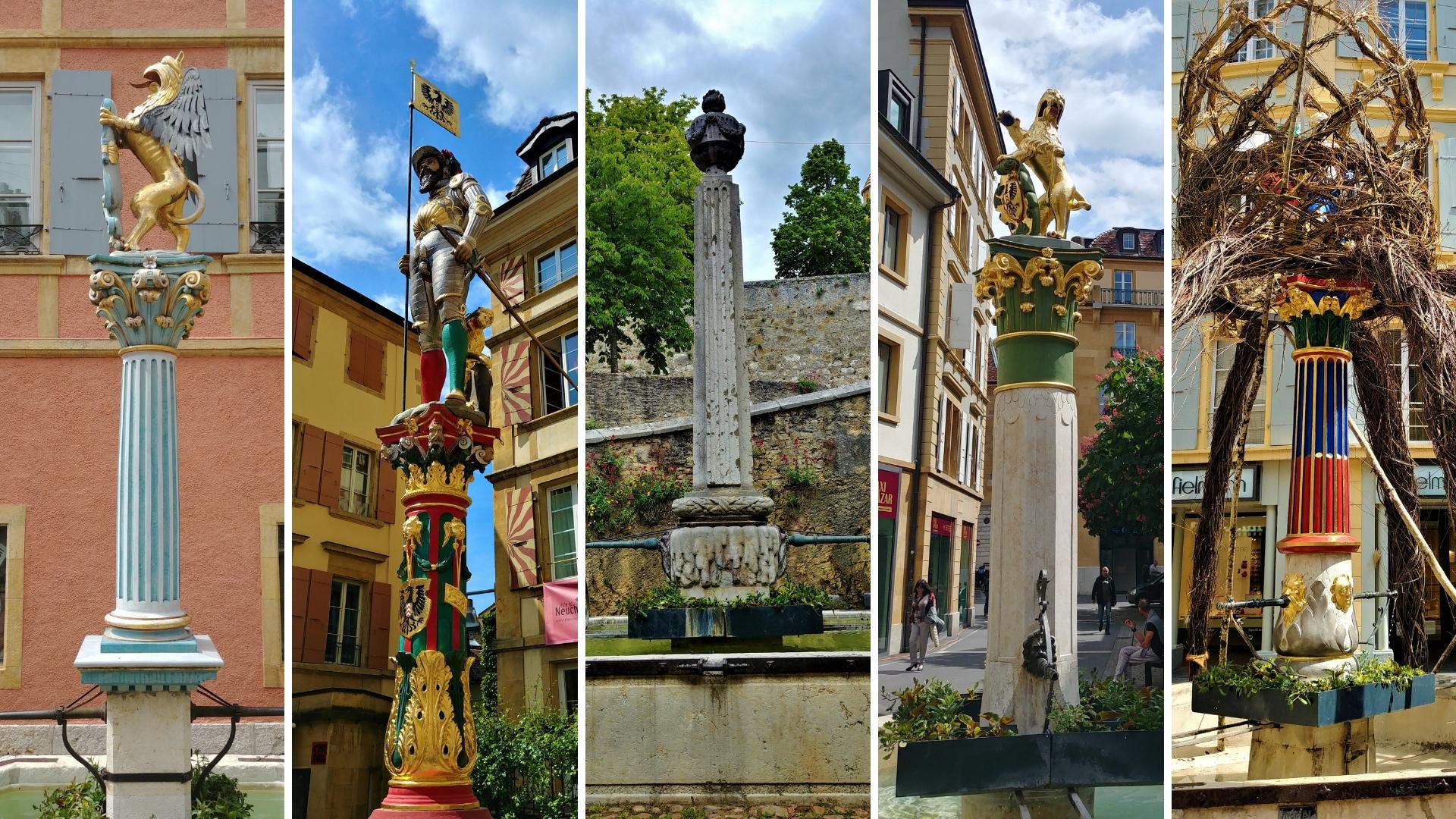 neuchatel fontaines peintes visiter circuit a pied ou dormir visiter suisse romande blog voyage