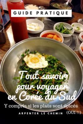 infos pratiques cuisine coree du sud guide voyage arpeter le chemin
