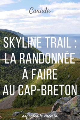 randonnée cap-breton nouvelle-ecosse skyline trail blog voyage canada arpenter le chemin