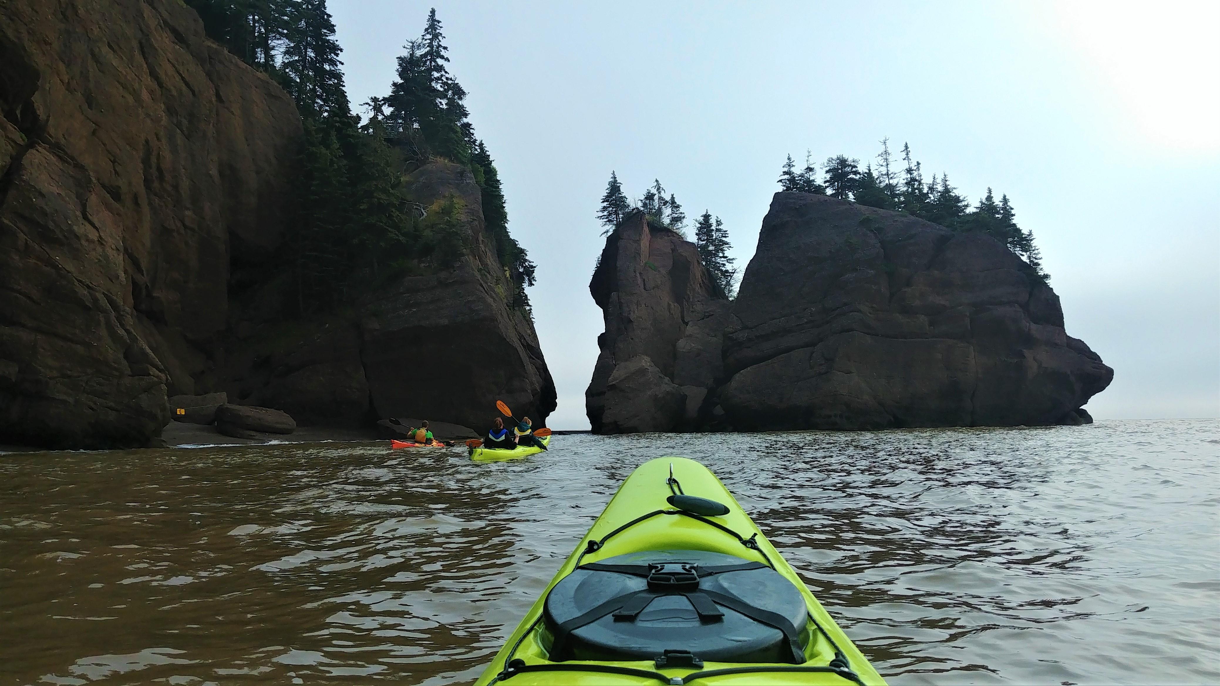 rochers hopewell comment aller kayak nouveau-brunswick canada