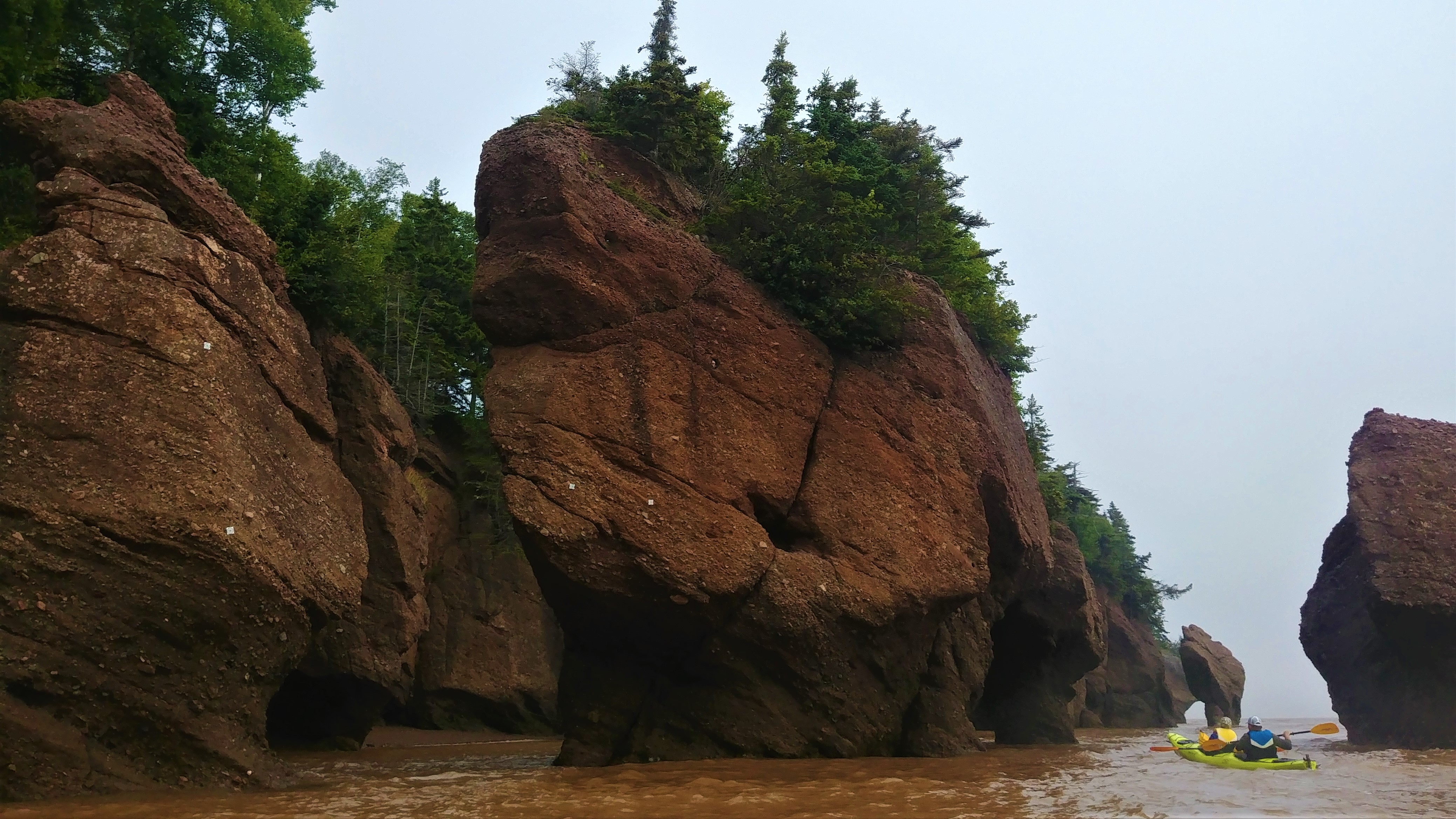 rochers hopewell kayak baie fundy