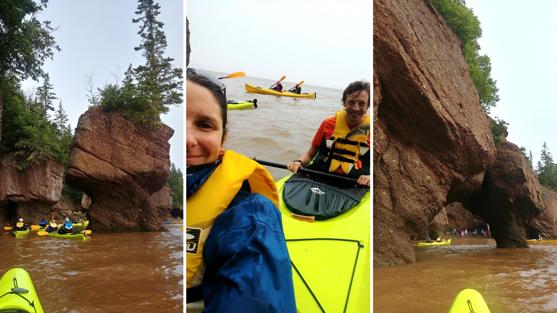 rochers hopewell kayak que voir baie fundy nouveau-brunswick blog voyage road-trip canada arpenter le chemin