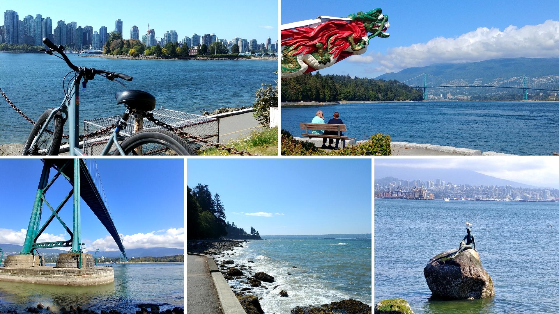 Vancouver stanley park balade velos blog voyage colombie-britannique canada arpenter le chemin