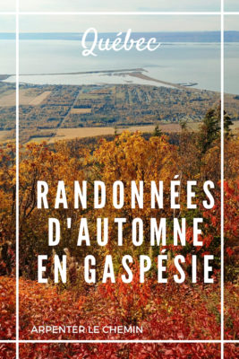 randonnees automne gaspesie Quebec Canada
