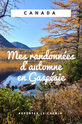 randonner en Gaspesie en automne