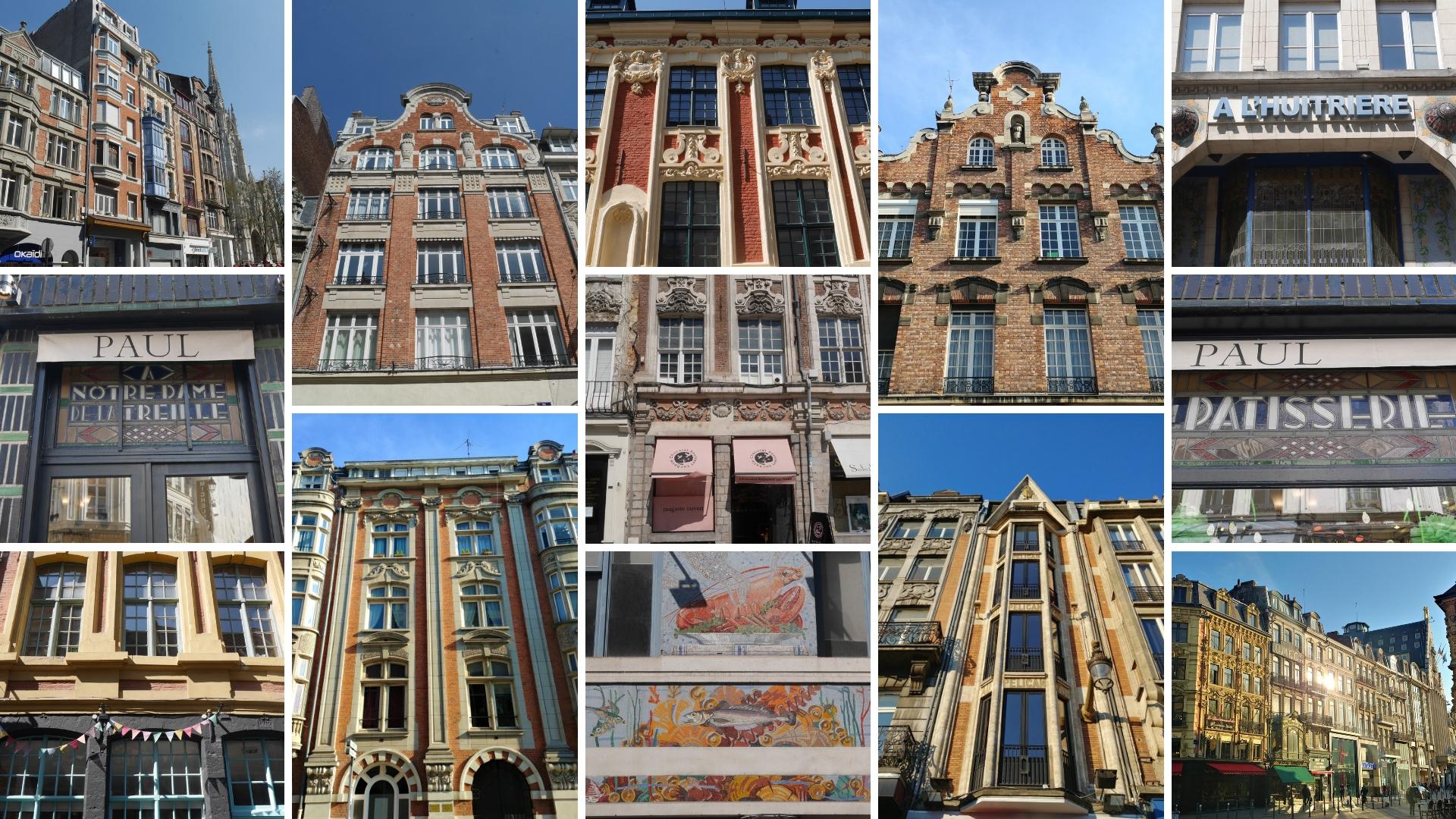 vieux Lille facades art deco que voir blog voyage france arpenter le chemin