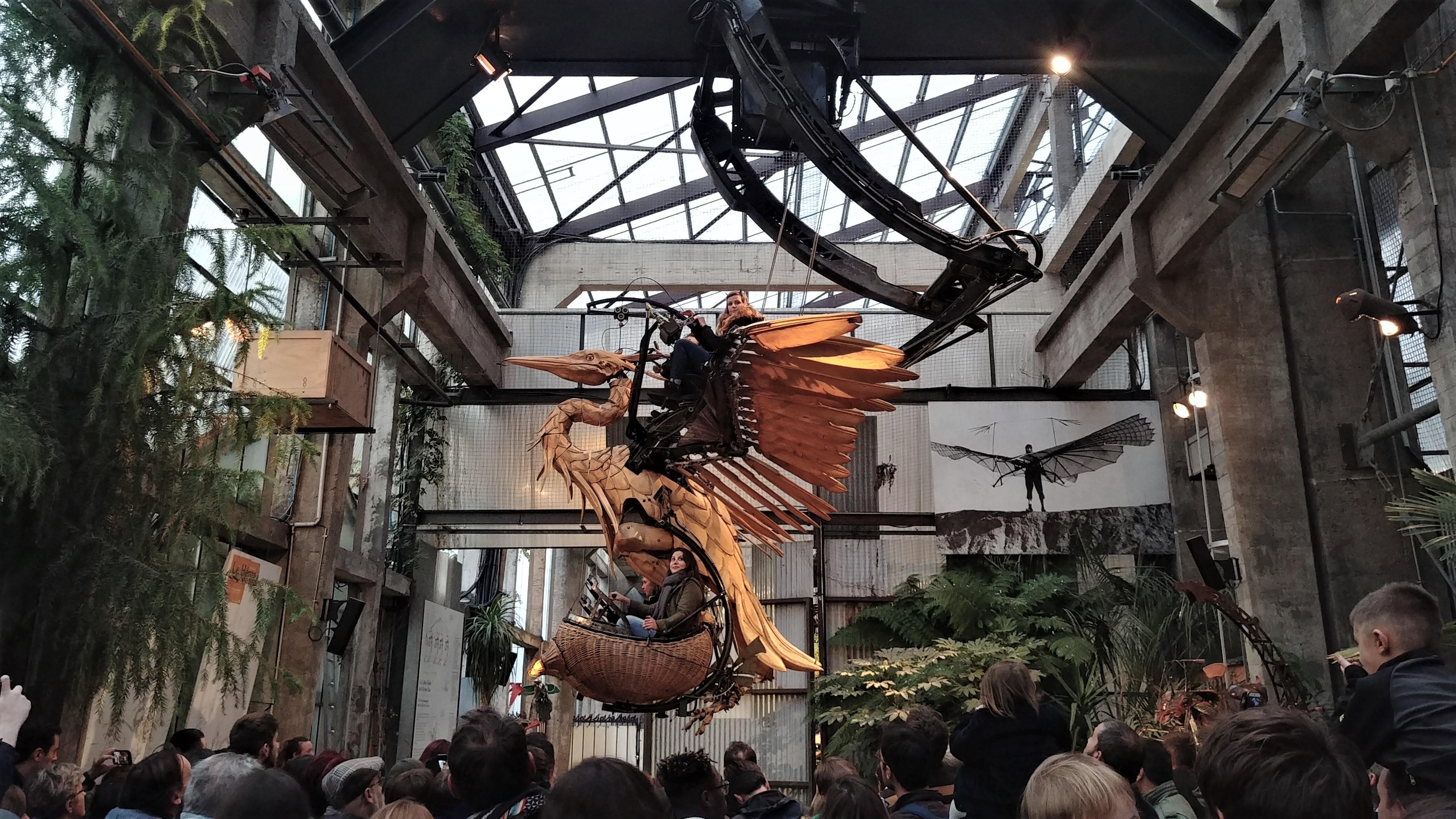 Nantes nid aux herons machines de l'ile elephant infos pratiques visite steampunk blog voyage france arpenter le chemin