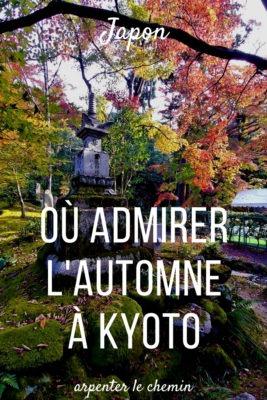 Où admirer l'automne à Kyoto - Japon