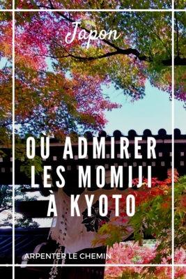 Où admirer les momiji à Kyoto - Japon