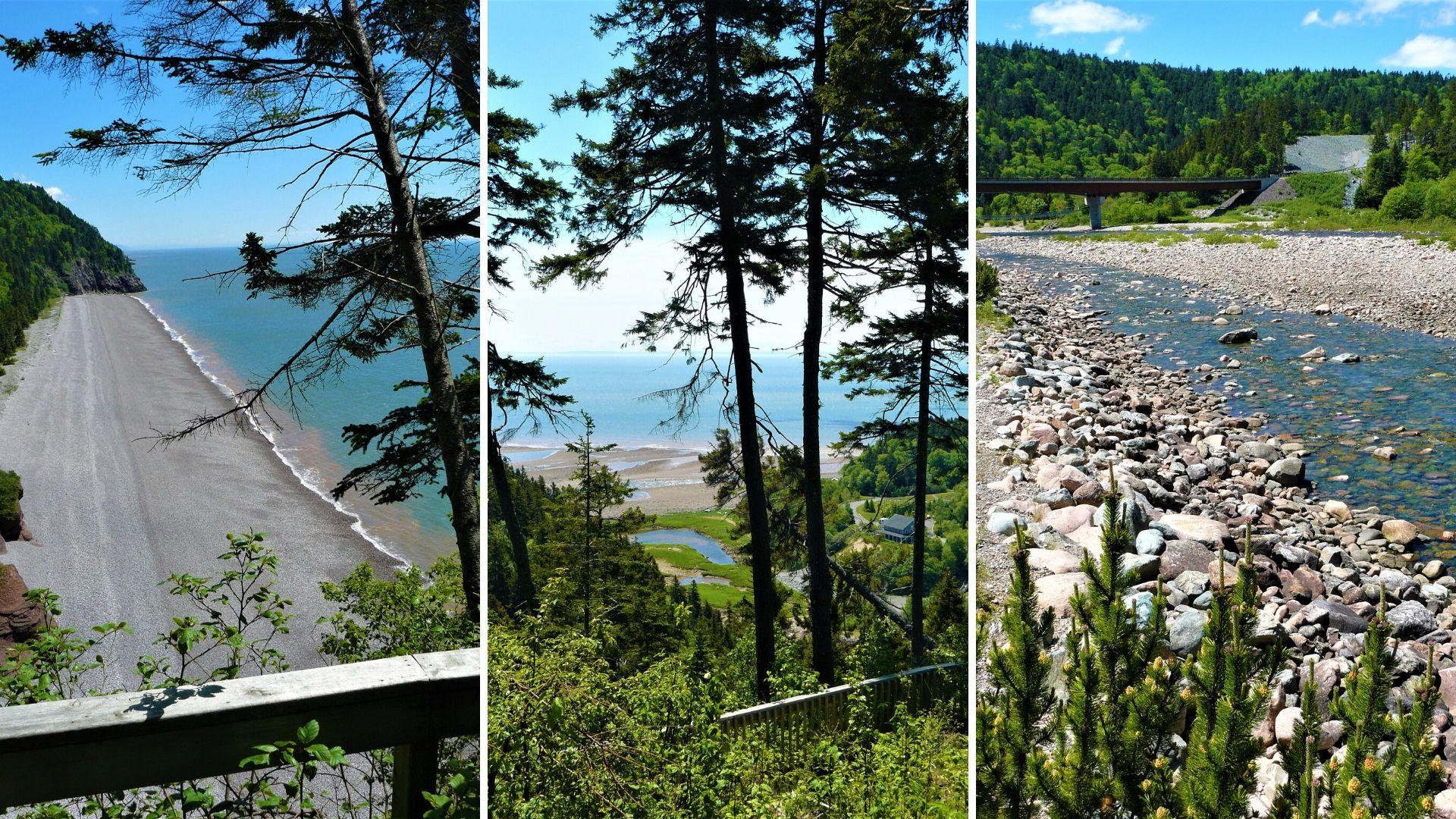 Visiter promenade sentier Fundy Trail Parkway Beach voyage Nouveau-Brunswick