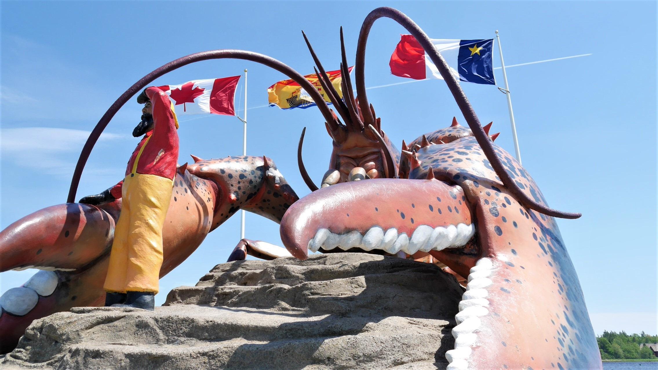 Shédiac homard géant que voir acadie blog voyage nouveau-brunswick canada