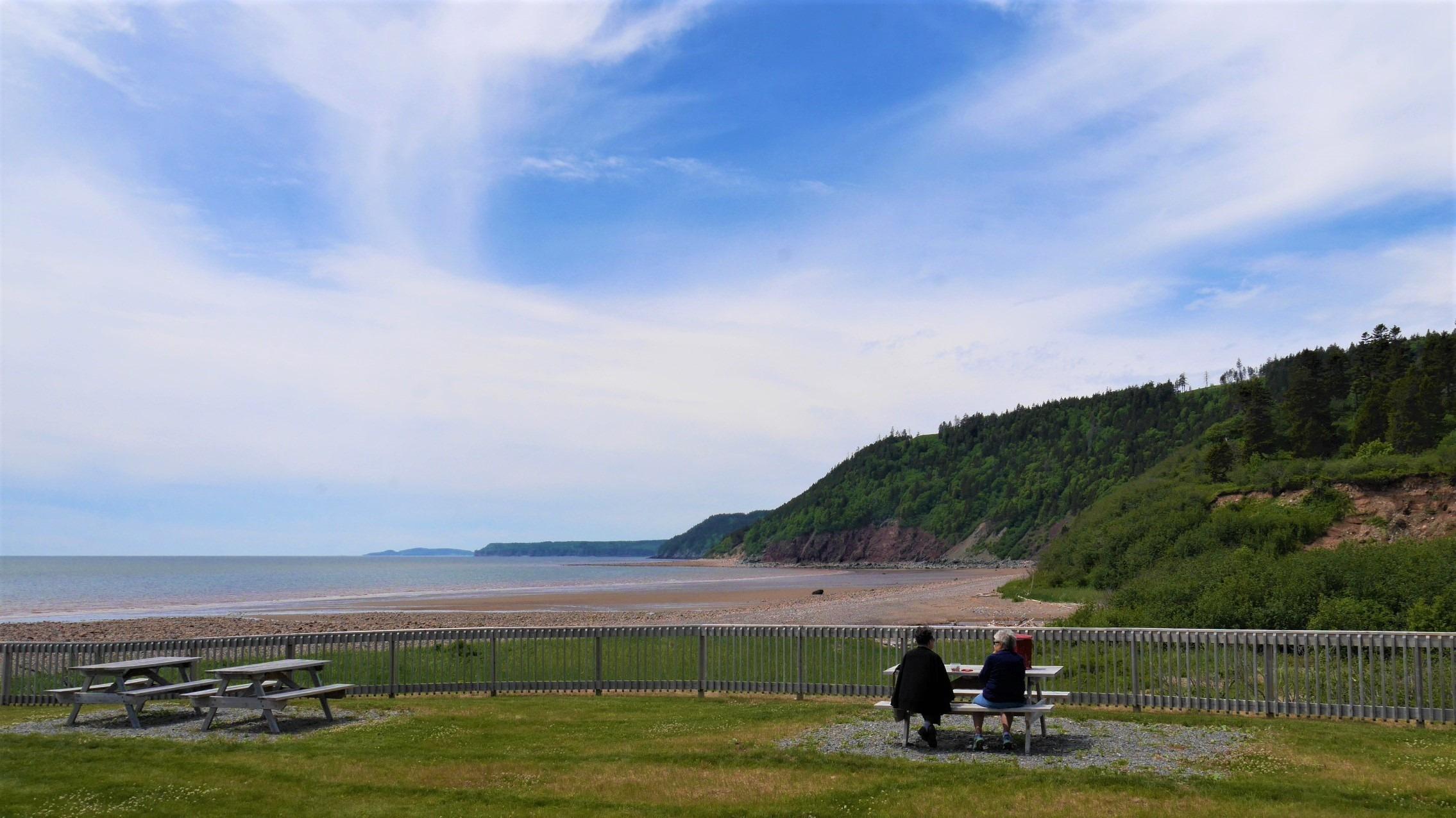 Fundy Trail Parkway Plage Long blog voyage Nouveau-Brunswick Canada Arpenter le chemin