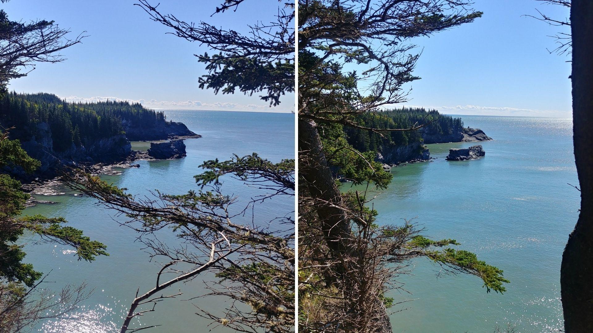 Split Rock Trail marée baie de Fundy