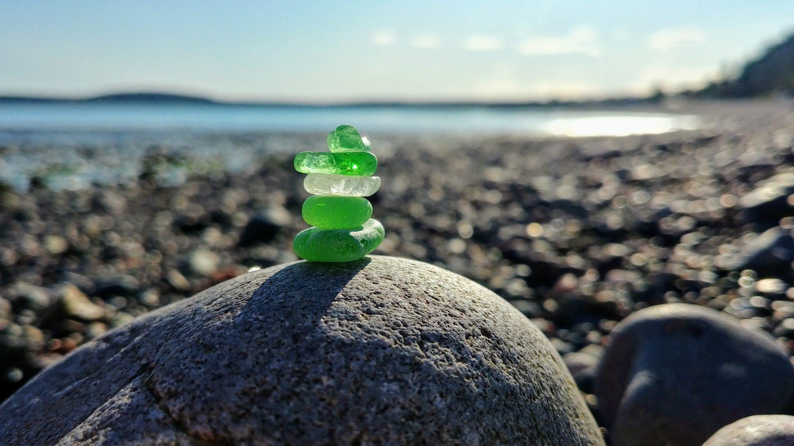 Verre de mer baie de Fundy Nouveau-Brunswick